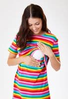 Stylish Mum Rachel Rainbow Breastfeeding Dress